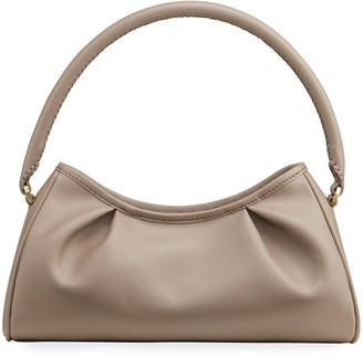Elleme Dimple Smooth Leather Pleated Shoulder Bag
