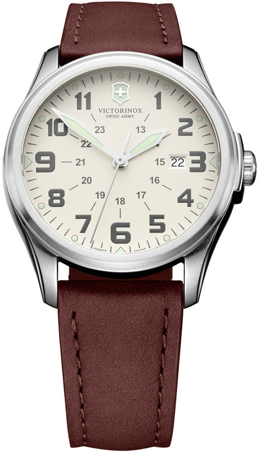 Victorinox Swiss Army Watch, Men's Brown Leather Strap 38mm 249049