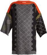 Acne Studios Raakel argyle-intarsia linen-blend sweater
