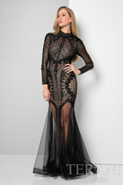 Terani Evening - Sheer Elaborate Illusion Gown 1712GL3579