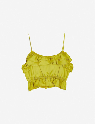 Topshop Rochelle cropped satin cami top