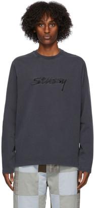 Stussy Black River Long Sleeve T-Shirt