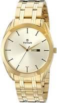 Titan Men's 1582YM01 Regalia Analog Display Quartz Gold Watch