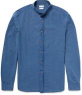Brunello Cucinelli - Slim-fit Grandad-collar Cotton-chambray Shirt