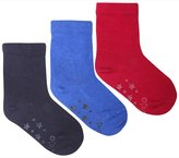 Jo-Jo JoJo Maman Bebe 3 Pack Short Socks (Baby)-Navy-0-6 Months