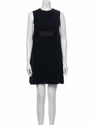 Alexander McQueen Crew Neck Mini Dress Black