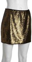 BCBGMAXAZRIA bronze sequined 'Catrine' mini skirt
