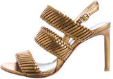 Santoni Metallic Woven Sandals w/ Tags