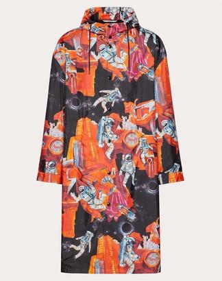 Valentino Infinite City Hooded Parka Man Orange 100% Poliammide 44
