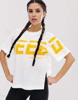 Reebok Training longline t-shirt in white