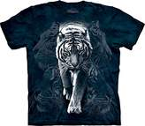 The Mountain Unisex-Adult White Tiger Stalk Short Sleeve T-Shirt