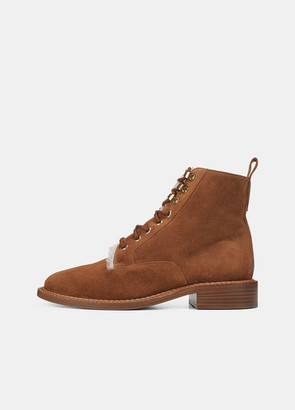 Vince Shearling-Lined Suede Cabria-3 Boot