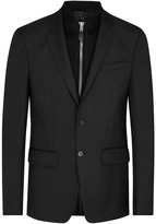Givenchy Black Wool Blend Twill Blazer
