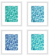 PTM Images Clear Aquas (Framed Giclee) (Set of 4)