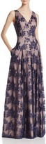 Aidan Mattox Sleeveless Lace Gown