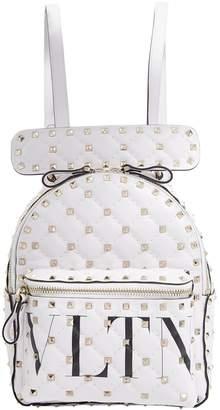 Valentino Garavani Leather Rockstud Spike Backpack