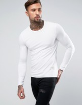 Religion Longline Muscle Fit Long Sleeve Top With Thumb Hole