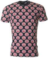 Moschino Slim Fit All Over Peace Logo T-shirt