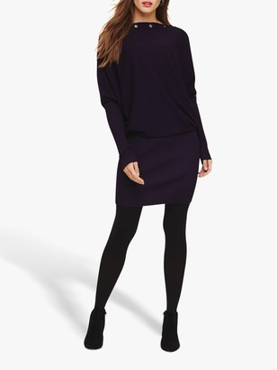 Phase Eight Becca Eyelet Dress, Purple