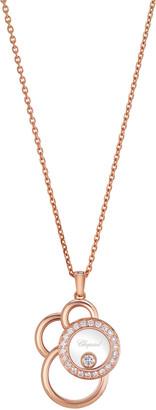 Chopard Happy Dreams Circle Diamond Pendant Necklace in 18K Rose Gold