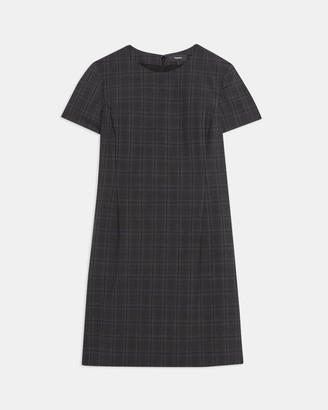 Theory Jatinn Dress in Plaid Good Wool