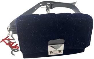 Karl Lagerfeld Paris Blue Velvet Handbags