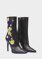Versace Embroidered Florage Ankle Boots