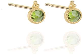Perle de Lune Green Tourmaline Studs