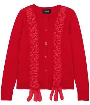 Simone Rocha Braided Merino Wool, Silk And Cashmere-blend Cardigan