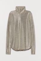 H&M Metallic-coated Top