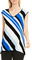 Vince Camuto Women's Nautical Band Mixed Media Top