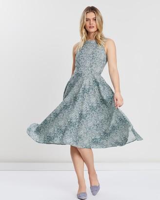 People Tree Kiernan Snake Print Dress