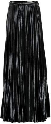 Saint Laurent Velvet silk-blend maxi skirt