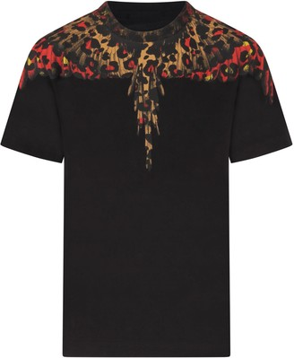 Marcelo Burlon County of Milan Black T-shirt With Iconic Wings For Boy