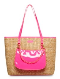 Betsey Johnson Straw Bright Tote