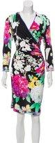 Leonard Floral Print Midi Dress w/ Tags