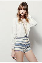 Free People Womens ELSA STRIPED HIGH RISE