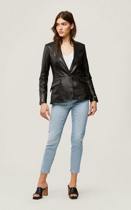 Soia & Kyo MIA slim-fit leather blazer
