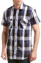 English Laundry Mens Regular Fit Woven Shirt, L, Blue