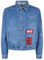 Mcq Alexander Mcqueen Embroidered Patch Denim Jacket