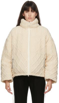Regulation Yohji Yamamoto Off-White Down Cable Knit Wool Jacket