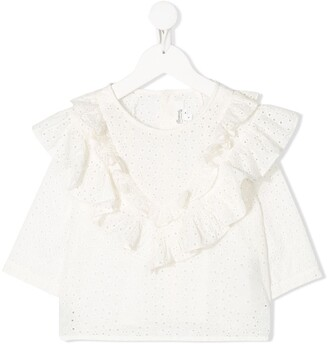 Bonpoint Broderie Anglaise Ruffled Top