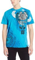 Southpole Men's High Definition and Screen Print T-Shirt with Wings and Logo In Cyrillic
