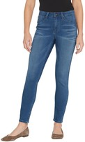 Fly London Laurie Felt Silky Denim Ankle Skinny Jeans with Zipper