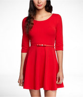 Express Three-Quarter Sleeve Stretch Cotton Skater Dress