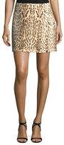 ADAM by Adam Lippes Leopard-Print Mini Wrap Skirt