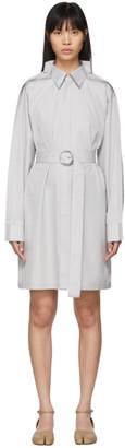 Maison Margiela Grey Poplin Double Collar Dress