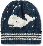 Thom Browne Whale Jacquard-Knit Wool and Mohair-Blend Beanie