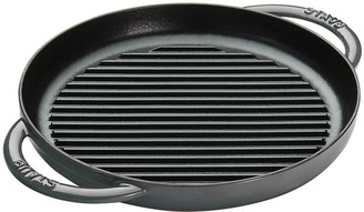 "Staub 10"" Round Double Handle Pure Grill - Gray"