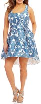 Teeze Me Plus Scroll Print Fit-And-Flare Dress